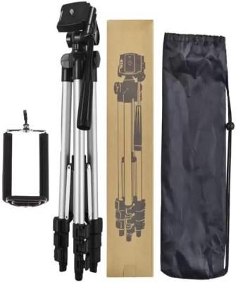LIFEMUSIC 3110 Portable tripod||360 degree tripod|| Foldabl Tripod(Silver & Black, Supports Up to 1500 g) 1