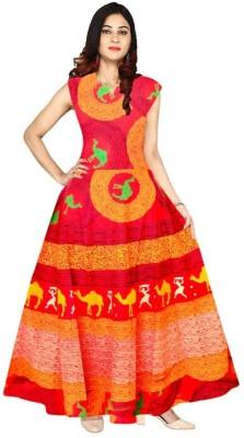 SHE ENTERPRISES Women A line Multicolor Dress