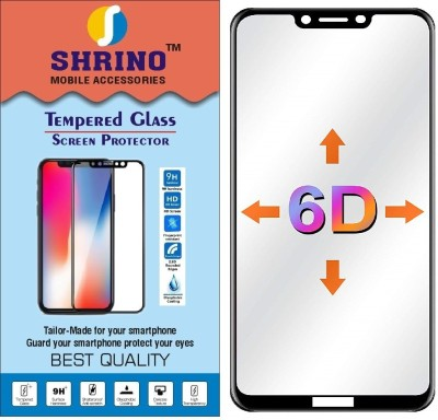 SHRINO Edge To Edge Tempered Glass for Shrino Premium HD Quality 6D Tempered Glass No Rainbow Effect 9H Full Screen Coverage for huawei Honor Play(Pack of 1)