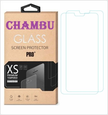 CHAMBU Tempered Glass Guard for Samsung Rex 90 S5292(Pack of 2)