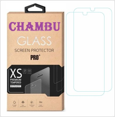 CHAMBU Tempered Glass Guard for Intex Aqua Amoled(Pack of 2)