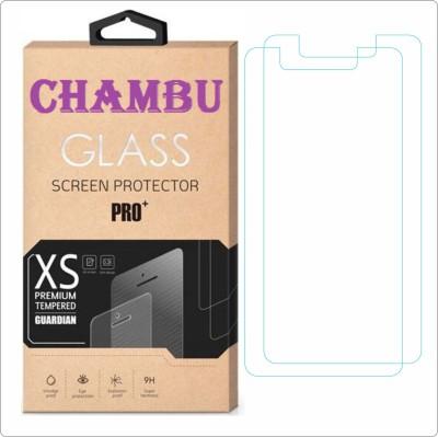 CHAMBU Tempered Glass Guard for Lava Iris 400q(Pack of 2)