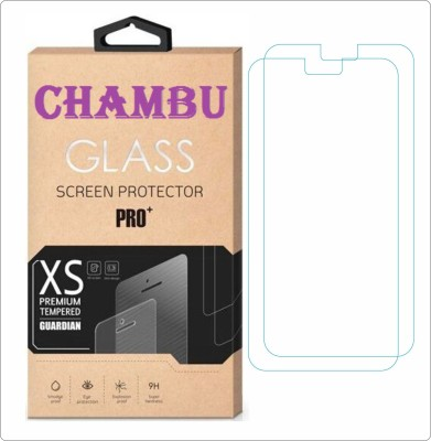 CHAMBU Tempered Glass Guard for Spice Smart Flo Mettle 4X Mi-426(Pack of 2)