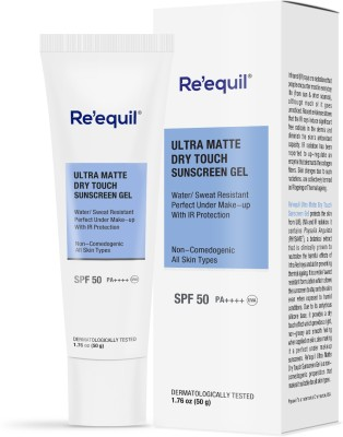 Re'equil Ultra Matte Dry Touch Sunscreen Gel - SPF 50 PA++++(50 g)