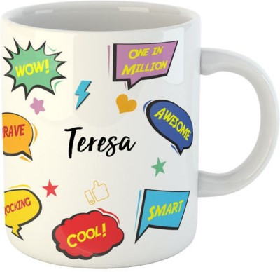 Ashvah Tejas Name Ceramic Mug(350 ml)