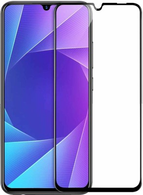 SHRINO Edge To Edge Tempered Glass for Shrino Full Screen Protector Screenguard for Vivo Y17 Y15 Y12 9H Hardness Anti-Fingerprint HD+ View Crystal Clear Precisely Engineered 6D Tempered Glass for Vivo Y17 Y15 Y12 (Black)(Pack of 1)