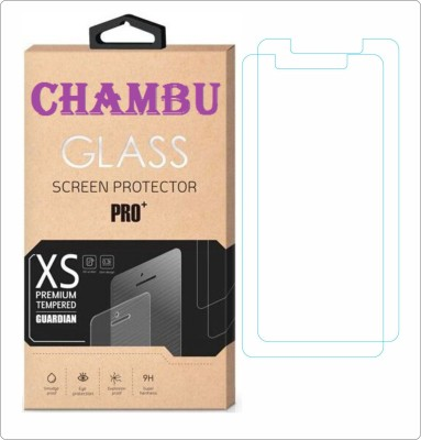 CHAMBU Tempered Glass Guard for Micromax Canvas L A108(Pack of 2)