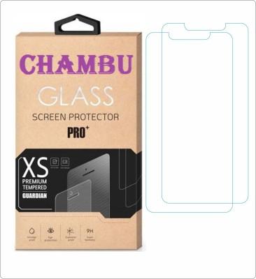 CHAMBU Tempered Glass Guard for LAVA IRIS 405(Pack of 2)