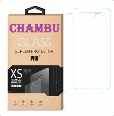 CHAMBU Tempered Glass Guard for Micromax Canvas 2 A120 Colours (8GB)(Pack of 2)