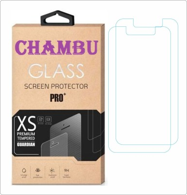 CHAMBU Tempered Glass Guard for Micromax A77 Canvas Juice(Pack of 2)