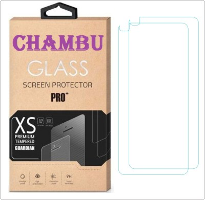 CHAMBU Tempered Glass Guard for Micromax Q346 Pack of 2
