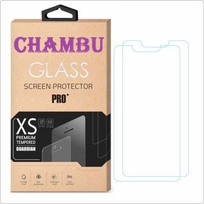 CHAMBU Tempered Glass Guard for Micromax Canvas Fun A74(Pack of 2)