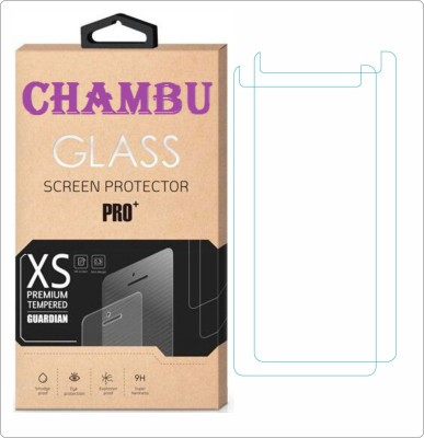 CHAMBU Tempered Glass Guard for Lava Mobiles Iris 401e(Pack of 2)