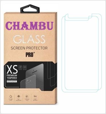 CHAMBU Tempered Glass Guard for Karbonn Smart A51 Plus(Pack of 2)