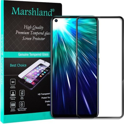 Marshland Tempered Glass Guard for Vivo z1 pro, 21d Full Glue Screen Protector Anti Scratch Bubble Free black(Pack of 1)