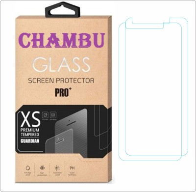 CHAMBU Tempered Glass Guard for Karbonn A6 Turbo 3G(Pack of 2)