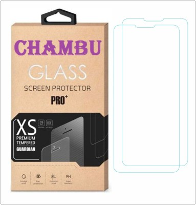 CHAMBU Tempered Glass Guard for Karbonn Smart A10(Pack of 2)