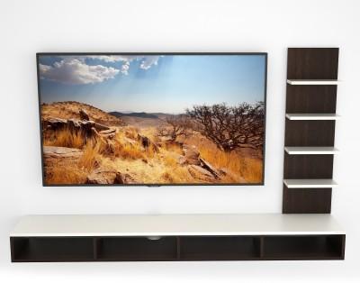 Bluewud Primax Engineered Wood TV Entertainment Unit(Finish Color - Wenge & White)