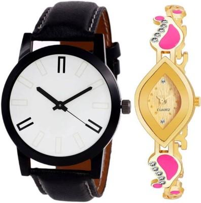 OUXI ZZK14 Combo pack 2 New Diamond Stunned Juliet Multicolor Dial Bracelet Couple Watch For Boys & Girls Analog Watch  - For Men & Women