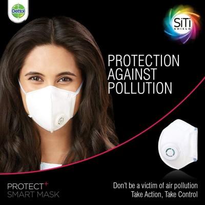 Dettol SiTi Shield Protect Plus Smart Unisex Mask, Medium
