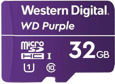 WD Surveillance Micro SD 32 GB MicroSDHC Class 10 80 Mbps Memory Card