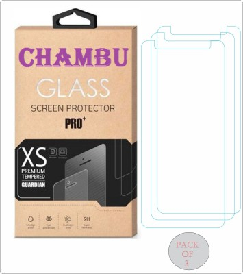 CHAMBU Tempered Glass Guard for HTC ONE X S720E(Pack of 3)