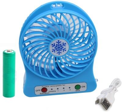 BUY SURETY Mini Fans Usb Charging Small Fan Air Cooler K6 USB Fan, Rechargeable Fan Blue