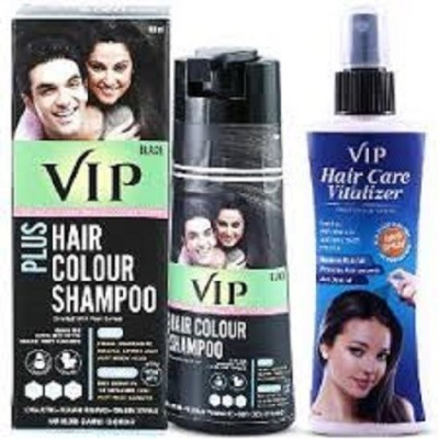 VIP HAIR COLOR SHAMPOO WITH HAIR GROWTH VITALIZER(Set of 2)