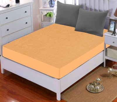 Dream Care Fitted King Size Waterproof Mattress Protector(Gold)