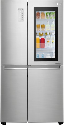 LG 687 L Frost Free Side by Side Refrigerator(Noble Steel, GC-Q247CSBV) at flipkart