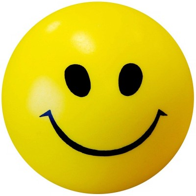 RKMG 1Pcs Stress Relief Smiley Face Squeeze Ball   3 inch Yello RKMG Soft Toys