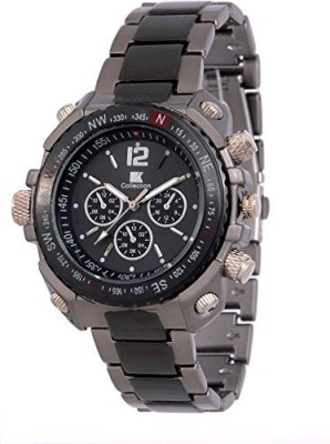 IIK Collection DL GR1001 BLK CH Analog Watch   For Men IIK Collection Wrist Watches