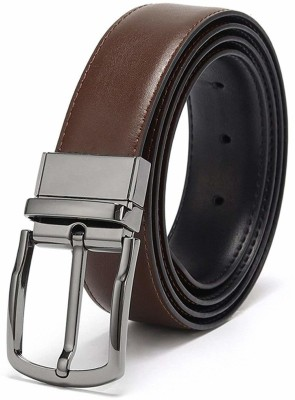 Facinate Men Formal, Casual Brown Artificial Leather Reversible Belt