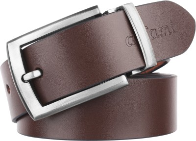 URBAN ALFAMI Men Formal, Casual, Party, Formal Brown Genuine Leather Belt