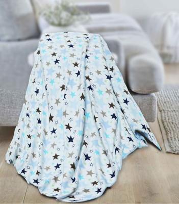 lillypupp Printed Crib AC Blanket(Cotton, Blue)