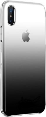 VeilSide Back Cover for Apple iPhone X, Apple iPhone XS(Classy Gradient Black, Transparent, Grip Case, Silicon)
