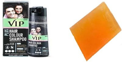 VIP HAIR COLOR SHAMPOO WITH ANTI AGEING SOAP(Set of 2)