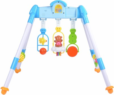Playhood MULTI-ACTIVITY LIGHT AND MUSICAL PLAY GYM CUM BABY WALKER(Blue, White)