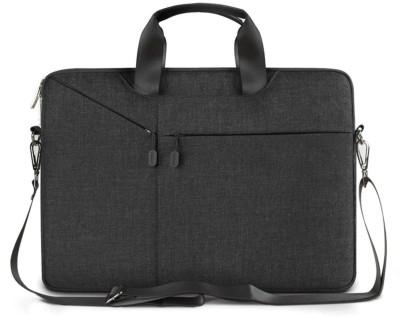 TechGuy4u 15.6 inch Laptop Messenger Bag(Black)