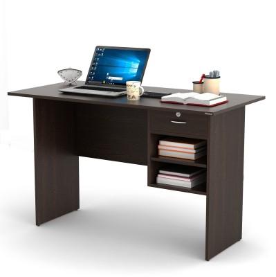 Bluewud Amalet Engineered Wood Study Table(Free Standing, Finish Color - Wenge)