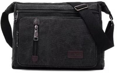Goatter Black Messenger Bag Goatter Bags, Wallets   Belts