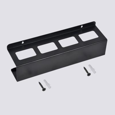 D&V ENGINEERING 4 Compartments Steel REMOTE HOLDER(Black)