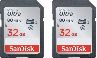 SanDisk ULTRA 80MB 533X 32 GB Ultra SDHC Class 10 80 MB/s Memory Card
