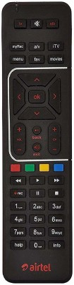Airtel Digital TV DTH Remote Compatible with SD and HD Recording Black  AIRTEL Remote Controller