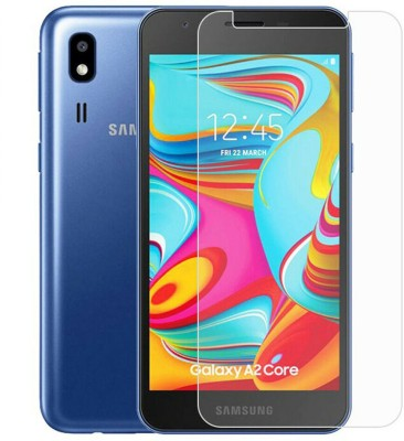DRUMSTONE Edge To Edge Tempered Glass for Samsung Galaxy A2 Core(Pack of 1)