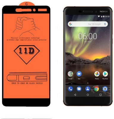 Calosc Tempered Glass Guard for Nokia 6.1(Pack of 1)