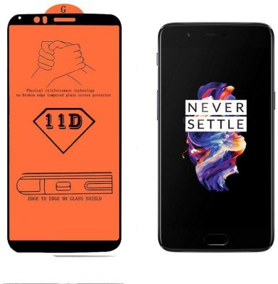 Calosc Tempered Glass Guard for OnePlus 5 (Slate Gray 8GB RAM + 128GB Memory)(Pack of 1)