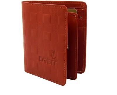 Orbit Men Formal Tan Genuine Leather Wallet 6 Card Slots