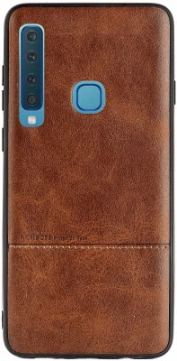 Mystry Box Back Cover for Samsung Galaxy A9 2018(Brown, Grip Case)
