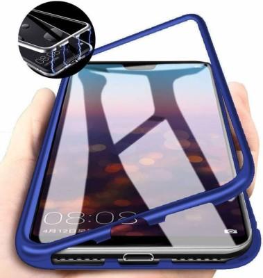 SAM GADGETS WORLD Back Cover for Realme X(Blue, Transparent, Magnetic Case)